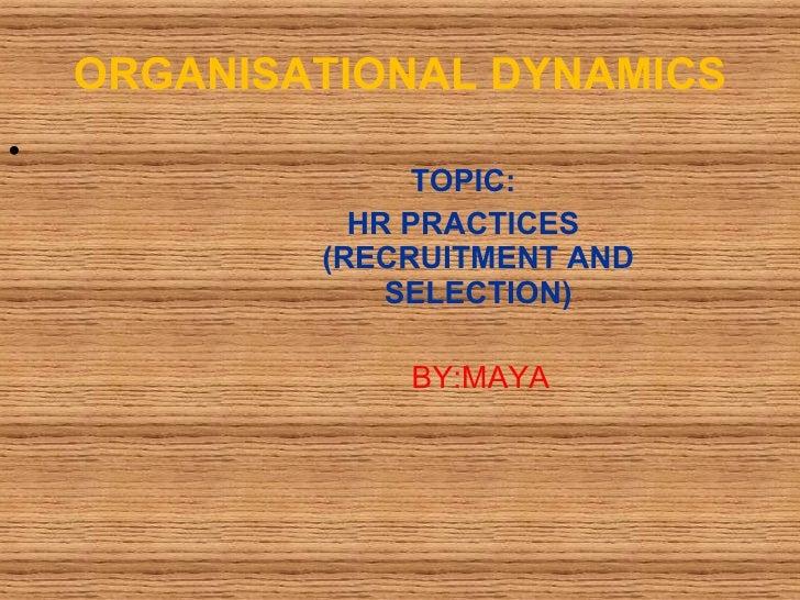 Organizational Behavior (OB)