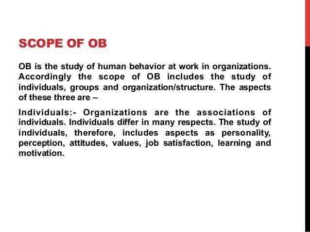Organisational behavior.