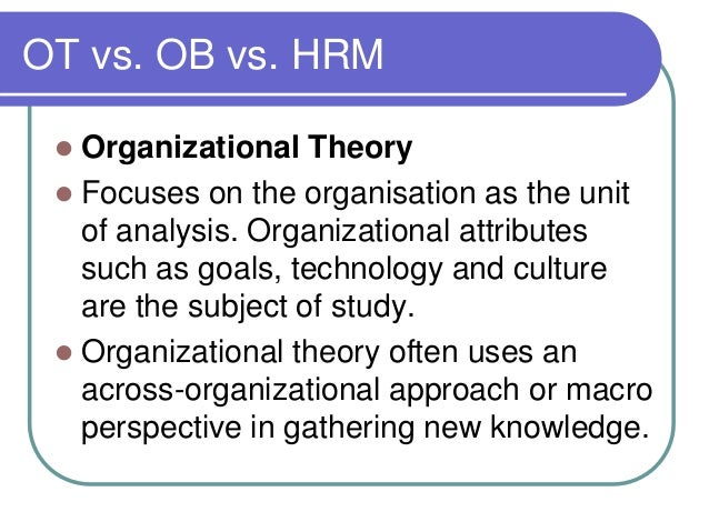 organisation theory and behavioural science Grounded theory is an inductive studying intergroup relations embedded in organizations administrative science quarterly, 27, 35-65 google scholar the use of grounded theory for the qualitative analysis of organizational behaviour journal of management studies, 20, 333-348.