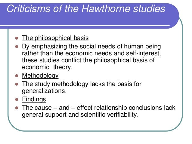 an introduction to hawthorne experiments Human resource theory: from hawthorne experiments of   introduction talks about the developments of the organization and organization.