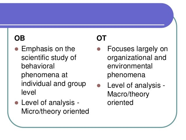 an introduction to the analysis of organisational behaviour Start studying introduction to the field of organizational behavior-chapter 1 learn vocabulary, terms, and more with flashcards, games, and other study tools.