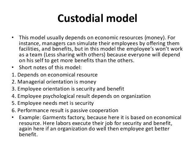 custodial model Custodial definition, of or relating to custody see more.