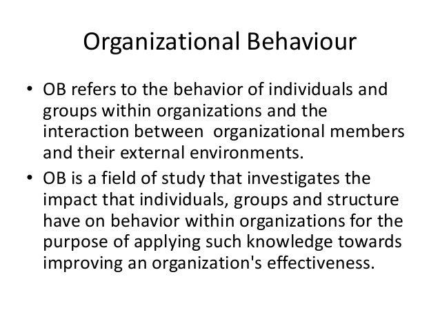 organisational behaviour pdf for bca