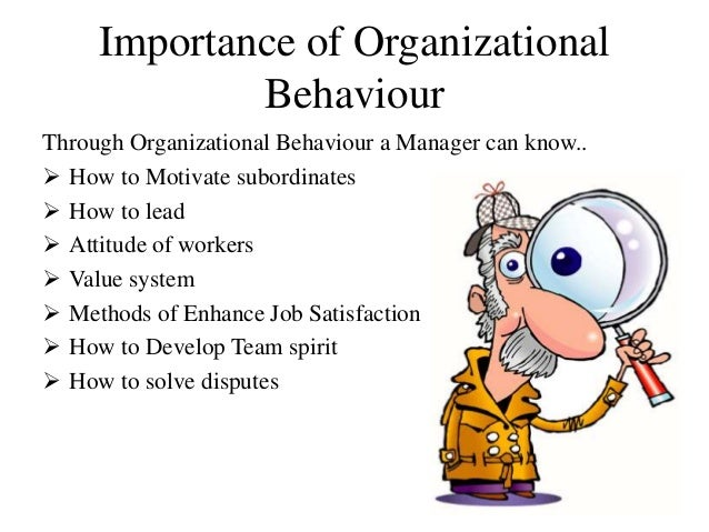 importance of organizational behavior to managers