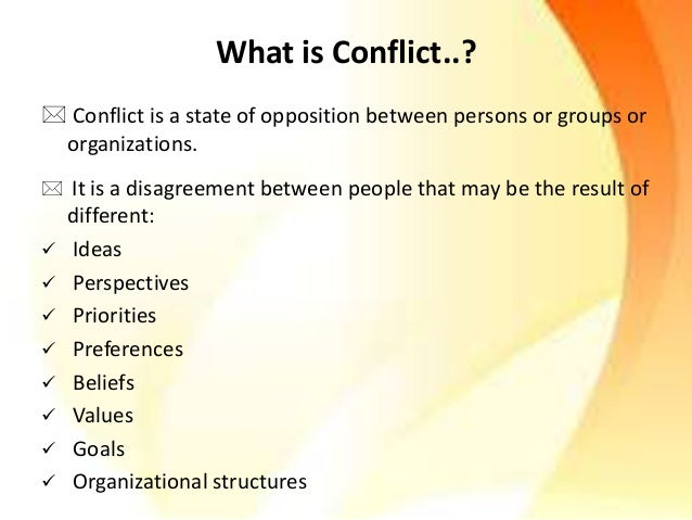 Conflicts  Slide 2