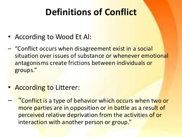 Conflicts  Slide 3