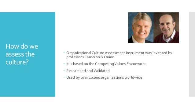 organizational culture assessment instrument template - kyiv pm club igor ivashchenko cultures management