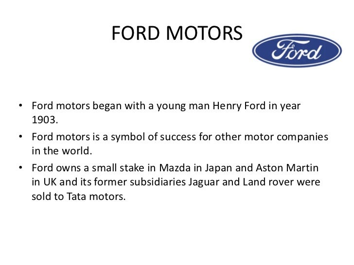 Ford motor company mission statement 2017 2018 2019 Ford motor company complaints