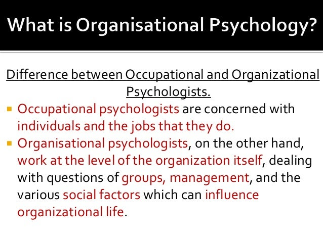 Industrial/Organizational Psychology Worksheet The...
