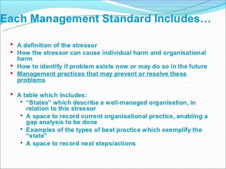 Organisational stress management