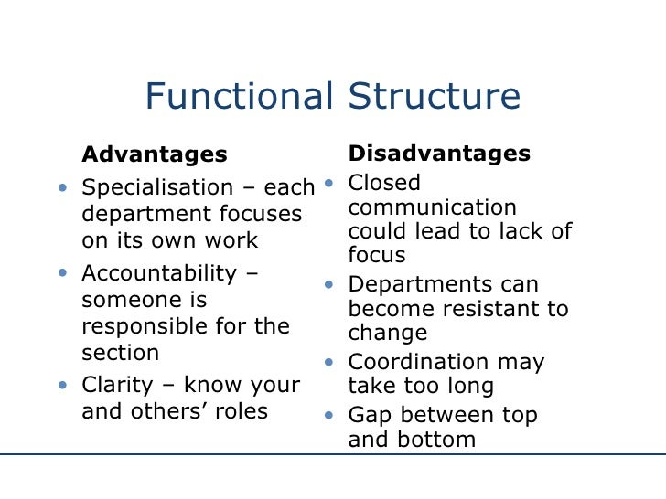 advantage and disadvantages of a boundaryless organization structure The main advantage of this organizational structure is that each  the disadvantages of the functional organization are  a boundaryless organization seeks.