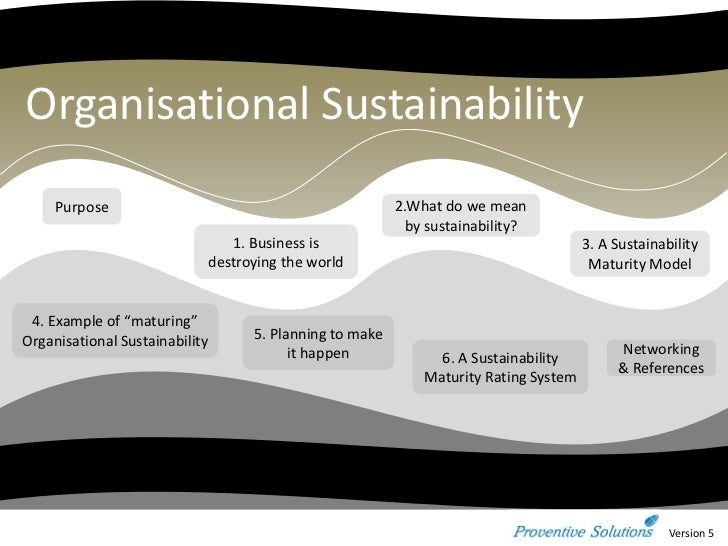 Organisational Sustainability     Purpose                                                2.What do we mean                ...