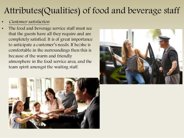 organisation duties and attributes of food and beverage staff