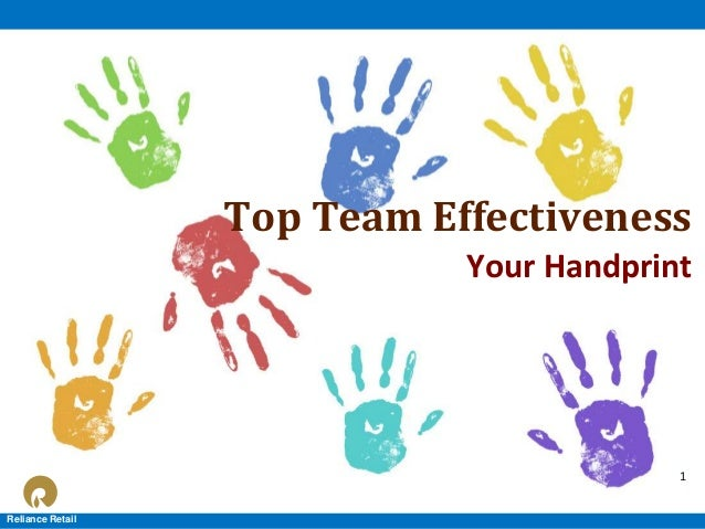 Top Team Effectiveness Your Handprint  1 1 Reliance Retail