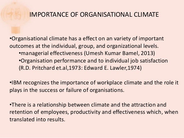 organisational climate an essay Organizational culture and climate order description chamberlain college of nursing: nr-534- healthcare systems managements organizational culture and climate.