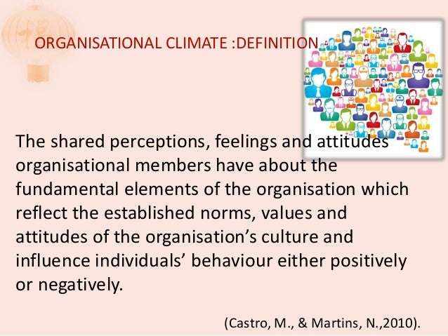 how to change organizational climate