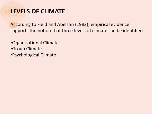 institutional climate definition