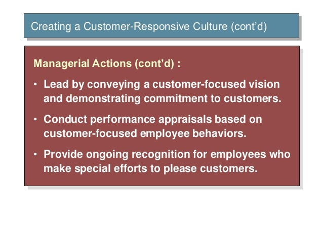 creating a customer responsive culture Strong brands engage employees by creating great experiences for them  building a culture of responsiveness  that an auto-generated email to a customer request .