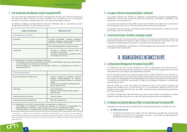 www.www.cphweb.info 18 19 C. Listedesméthodesutilisablesdanslecadred'unprogrammedeDPC Pour construire leurs programmes de ...