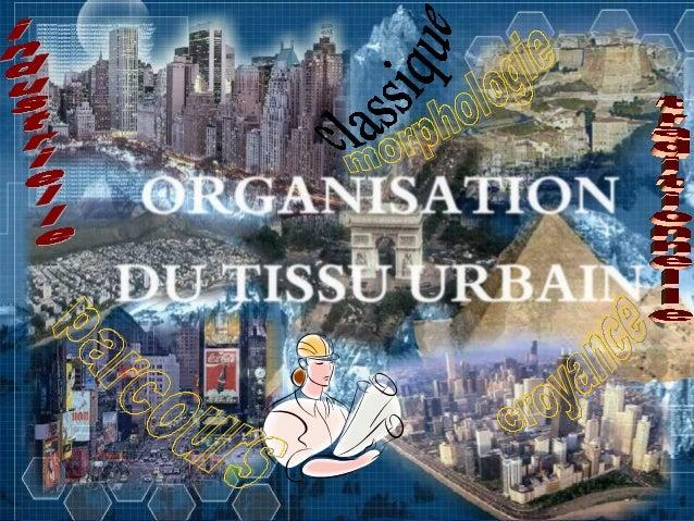 Introduction. Définitions: la ville, l'urbanisme, et le tissu urbain. L'organisation de la ville a travers l'histoire: -la...