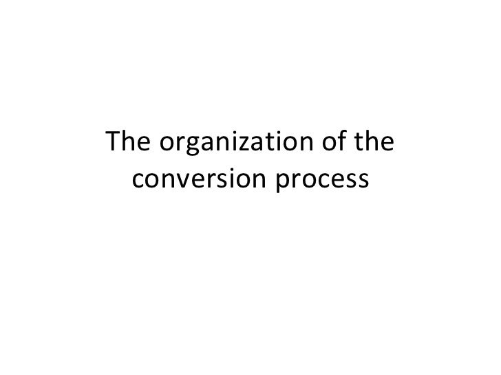 The organization of the  conversion process