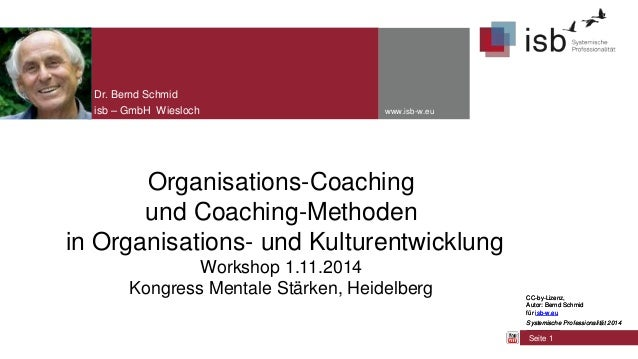 CC-by-Lizenz, Autor: Bernd Schmid für isb-w.eu Systemische Professionalität 2014 www.isb-w.eu Organisations-Coaching und C...