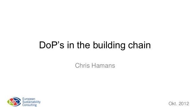 DoP's in the building chain        Chris Hamans                              Okt. 2012