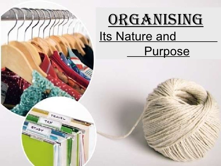 ORGANISING   Its Nature and  Purpose