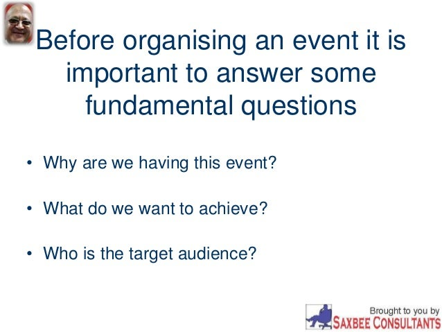 organising events Organising events the event organisers' toolkit contains everything you need to run an event, from park and street events, to local club events, to championships.