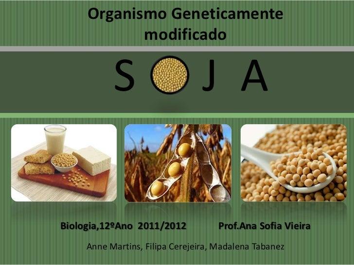 Organismo Geneticamente            modificado           S                     J ABiologia,12ºAno 2011/2012           Prof....