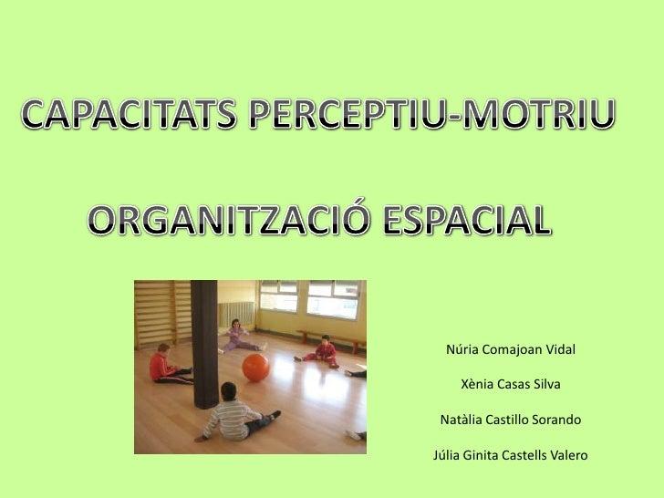 CAPACITATS PERCEPTIU-MOTRIU<br />ORGANITZACIÓ ESPACIAL<br />Núria Comajoan VidalXènia Casas SilvaNatàlia Castillo SorandoJ...