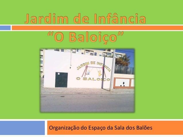 Organização do Espaço da Sala dos Balões
