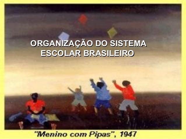ORGANIZAÇÃO DO SISTEMAORGANIZAÇÃO DO SISTEMA ESCOLAR BRASILEIROESCOLAR BRASILEIRO
