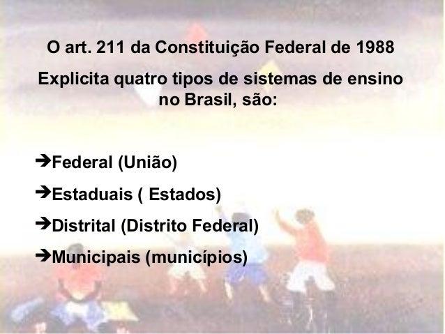 Organizaçao do sistema escolar brasileiro Slide 2