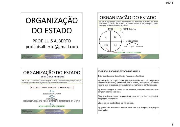 4/5/11                                                                                                    ORGANIZAÇÃO DO...