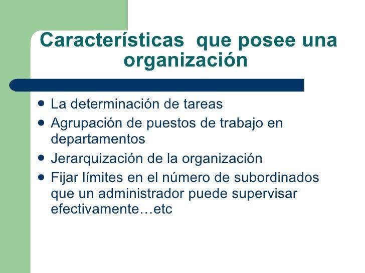 OrganizacióN, Caracteristicas Y Teorias Slide 3
