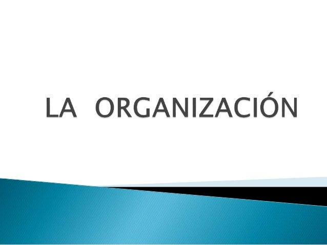 ORGANIZACIÒN Definición: Es un sistema social integrado por individuos y grupos que, bajo una determinada estructura y den...