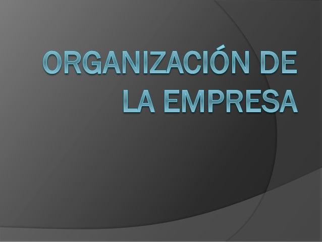 Organización de la empresa Introducción Contexto de alguna empresa Nos proporciona normas Escritas verbales Formales Infor...