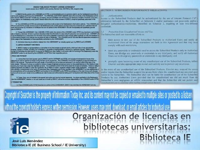José Luis Menéndez Biblioteca IE (IE Business School / IE University)