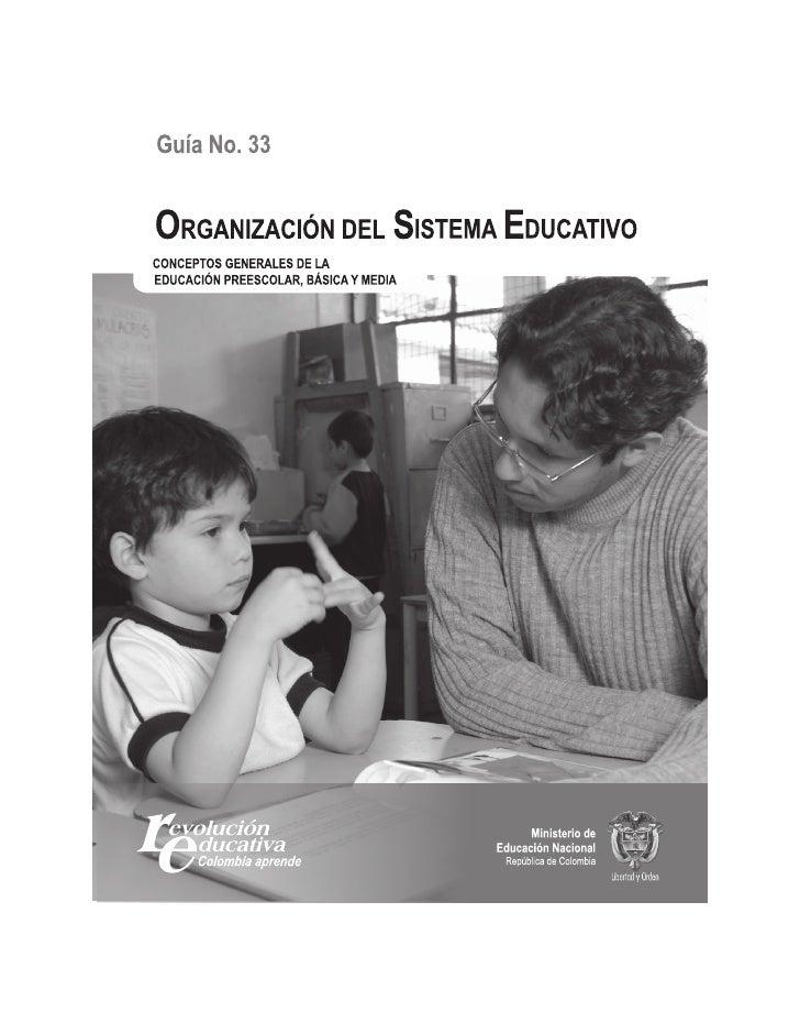 Organización del sistema educativo