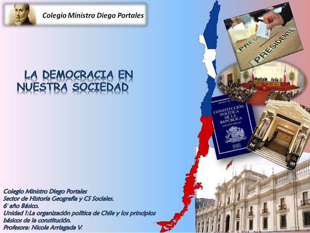 Colegio Ministro Diego Portales Sector de Historia Geografía y CS Sociales. 6°año Básico. Unidad 1:La organización polític...
