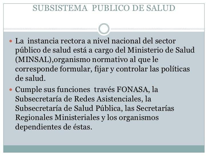 Organización, estructura y funcionamiento del sector salud Slide 3