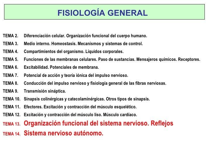 TEMA 2.  Diferenciación celular. Organización funcional del cuerpo humano. TEMA 3.  Medio interno. Homeostasis. Mecanismos...
