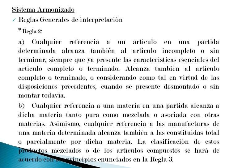 <ul><li>Secciones - (Ejemplos):</li></ul>Sección I:  Animales vivos y productos del reino animal.Caps. 1 a 5<br />S...