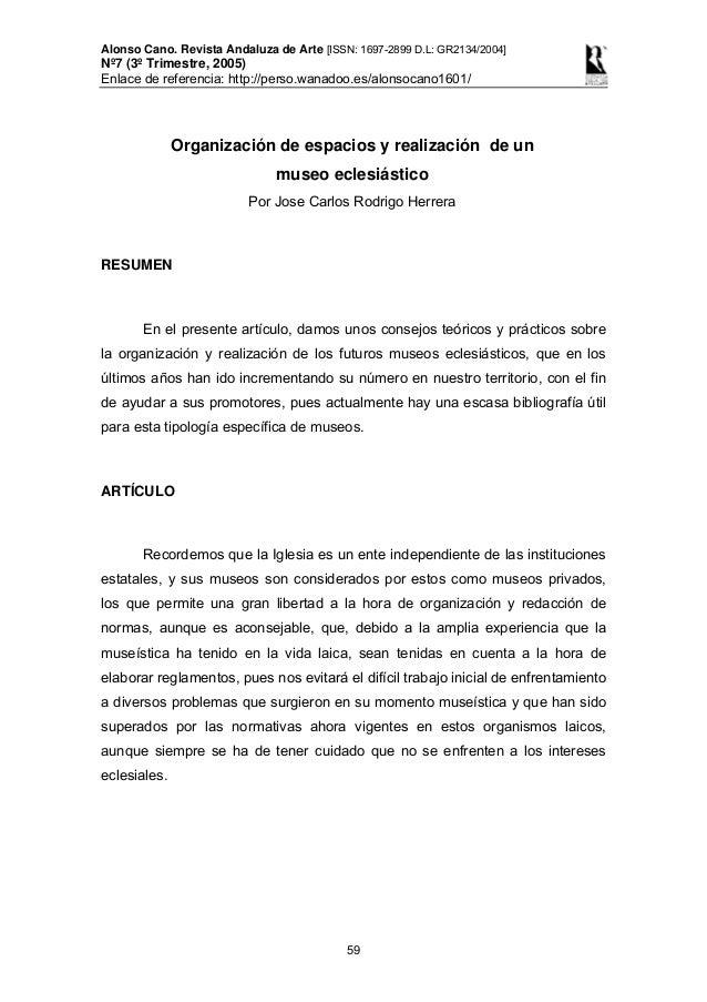 Alonso Cano. Revista Andaluza de Arte [ISSN: 1697-2899 D.L: GR2134/2004] Nº7 (3º Trimestre, 2005) Enlace de referencia: ht...