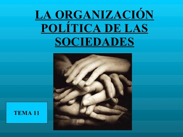 LA ORGANIZACIÓN POLÍTICA DE LAS SOCIEDADES TEMA 11