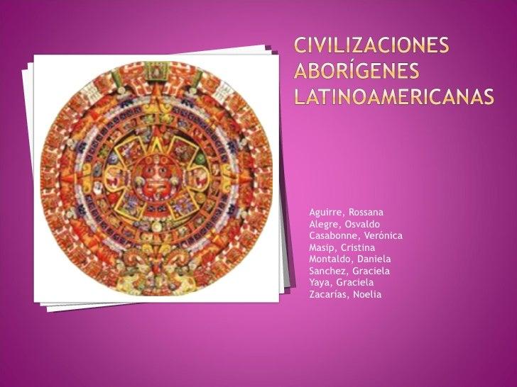 <ul><li>Aguirre, Rossana </li></ul><ul><li>Alegre, Osvaldo </li></ul><ul><li>Casabonne, Verónica </li></ul><ul><li>Masip, ...