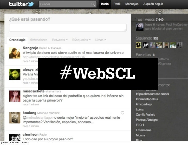 #WebSCLjueves 12 de mayo de 2011