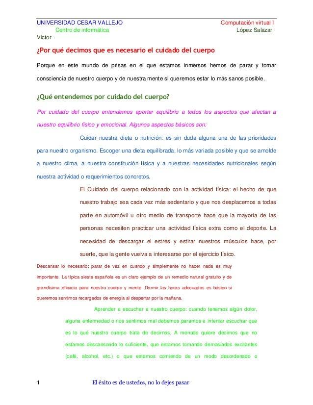 UNIVERSIDAD CESAR VALLEJO Centro de informática Victor  Computación virtual I López Salazar  ¿Por qué decimos que es neces...