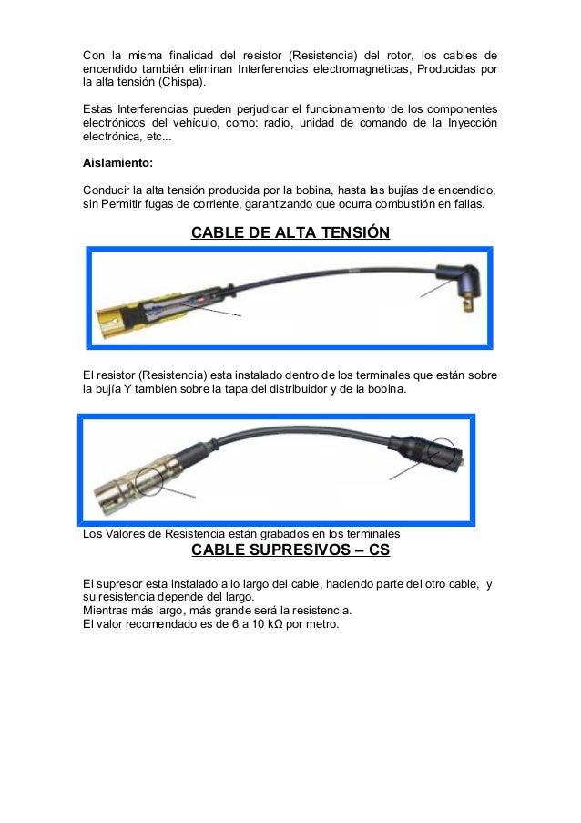 Resistencia cables de alta